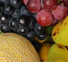 Grapes Melons and Bananas by rhamm