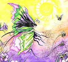 The Morning Pollination Parade by Sandra Gale