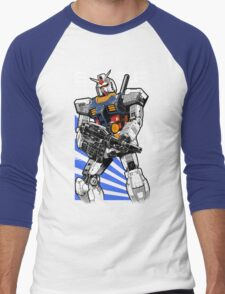 Gundam RX 78 Men's Baseball ¾ T-Shirt