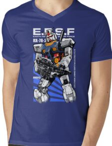 Gundam RX 78 Mens V-Neck T-Shirt