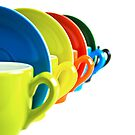 Colored coffee cups by Erik Ketting
