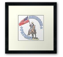 American Patriot Horseman  Framed Print