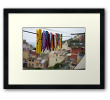 The Colorful Chore Framed Print