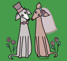 Greyhound Wedding Couple - pink One Piece - Short Sleeve