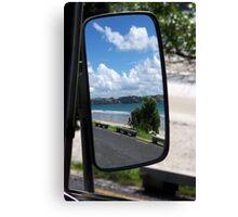 rearview beach Canvas Print