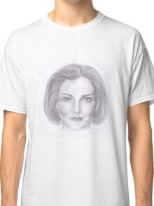 Kathryn Janeway / Kate Mulgrew pencil portrait Classic T-Shirt