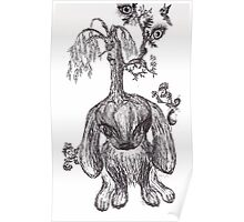Bunny Tree (ink) Poster