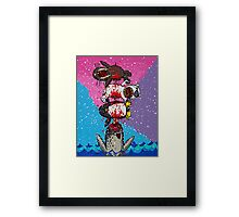 Here Comes a Narwhal! Framed Print