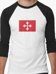 Flag of Republic of Pisa  Men's Baseball ¾ T-Shirt