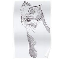 Cat (ink) Poster