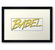 Babel Framed Print