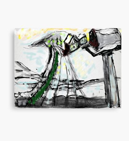 Snow Scene in The Country Canvas Print