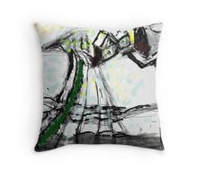 Snow Scene in The Country Throw Pillow