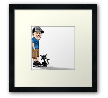 J's and a One eyed kitty Framed Print