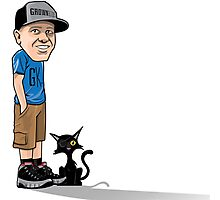 J's and a One eyed kitty Photographic Print