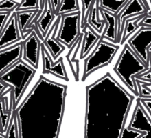 Twisty Tree in Midnight Sticker