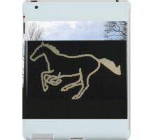 Julian Opie - Galloping Horse #2 iPad Case/Skin