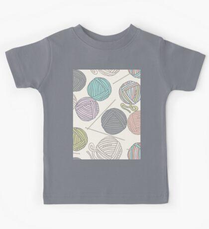 Balls of yarn pattern Kids Tee
