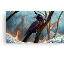 A Raven Of Ice & Fire Canvas Print