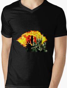 16-Bit Sauron & Eye of Sauron Mens V-Neck T-Shirt