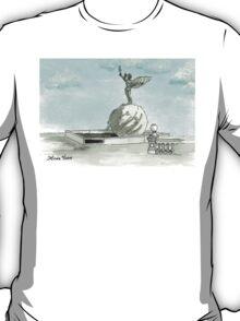 Daily Doodle 28- En Plein Air - Jacksonville Memorial Park T-Shirt