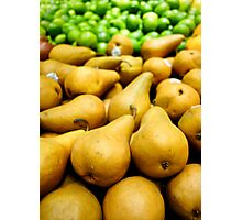 Bosc Pears and Limes Photographic Print