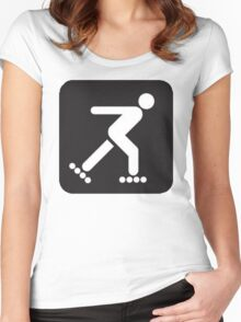 Inline skate Women's Fitted Scoop T-Shirt