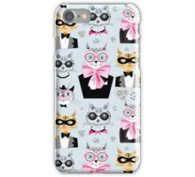 pattern cats hipsters iPhone Case/Skin