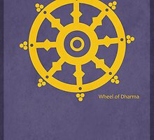 The Wheel of Dharma - Buddhism by KRPace