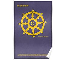 The Wheel of Dharma - Buddhism Poster