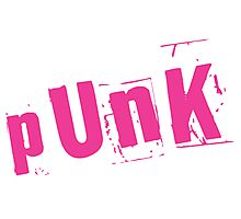 Old Skool pUnK  (Pink) Photographic Print