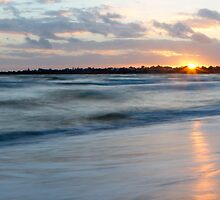 Sunset over Mentone beach by Maddison Falls