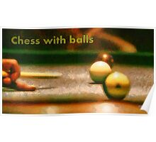 Chess with balls Poster