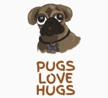 Pugs Love Hugs One Piece - Short Sleeve
