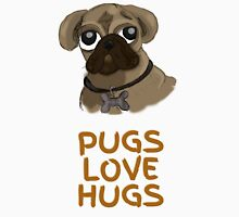 Pugs Love Hugs Mens V-Neck T-Shirt