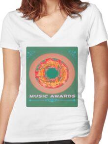music awards Women's Fitted V-Neck T-Shirt