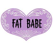 kick ass Fat Babe sticker  by acaciarowland