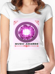 music awards Women's Fitted Scoop T-Shirt