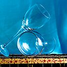 Another glass now with a blue background  by katarina86