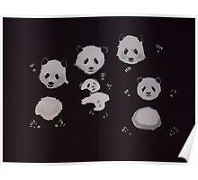 Panda bear family - Pandamonium! Poster