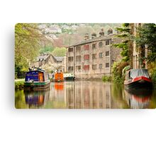 Reflections on the Rochdale Canal Canvas Print