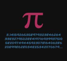 Pi 3.142 π Mathematics T-Shirt - Greek Letter Pi Top by deanworld