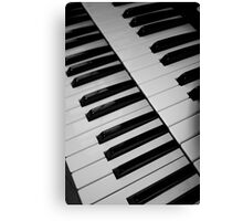 The keyboard. Canvas Print