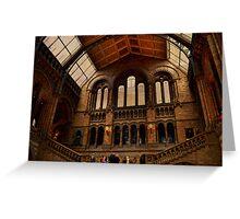 National History Museum II- London Greeting Card