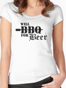 Will BBQ for Beer Women's Fitted Scoop T-Shirt