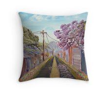 Jacaranda Lane Throw Pillow