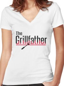 The grillfather Women's Fitted V-Neck T-Shirt