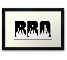 BBQ Flames Framed Print