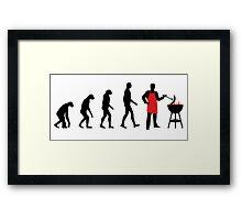 BBQ Evolution Framed Print