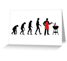 BBQ Evolution Greeting Card